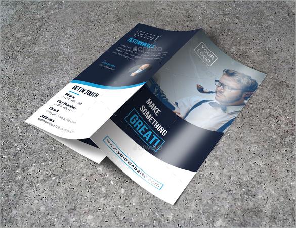 tri fold brochure template psd download