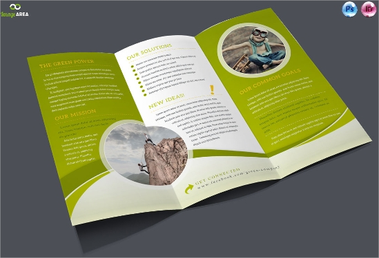 bundle of trifold brochures template download
