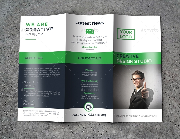 creative tri fold brochure download