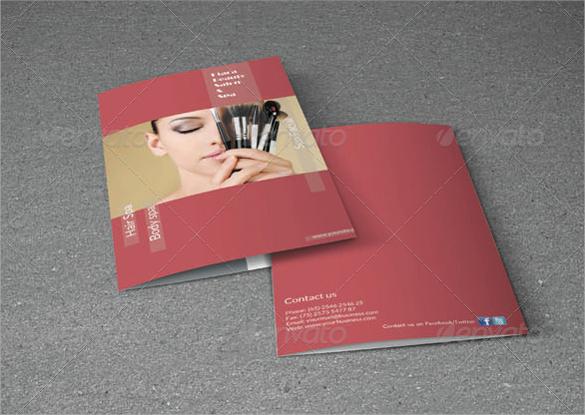 bifold brochure beauty salon download