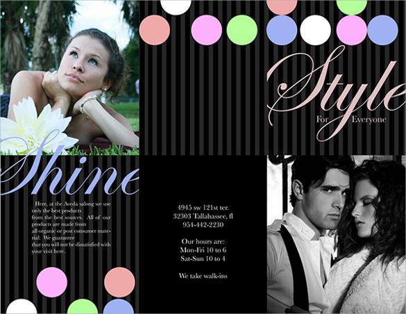 fabulous salon brochure templates download