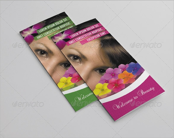 trifold brochure for spa salon download