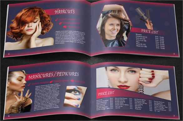 dazzling salon brochure templates download
