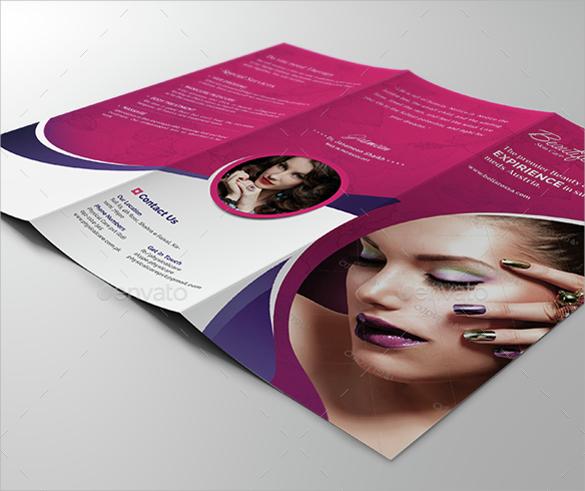 creative salon brochure templates download