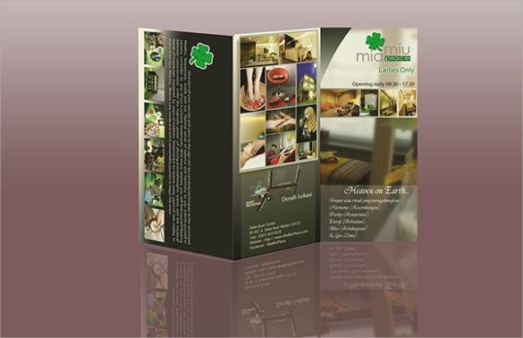miamiu place salon and spa logo and brochure