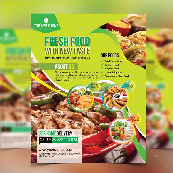 printable restaurant flyer