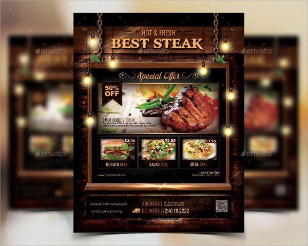 26  restaurant flyers templates