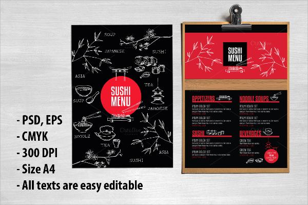 attractive restaurant flyer