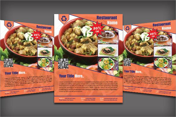 psd format restaurant flyer