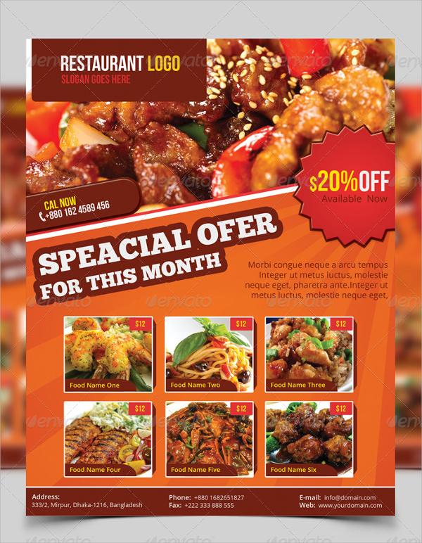 beautiful restaurant flyer