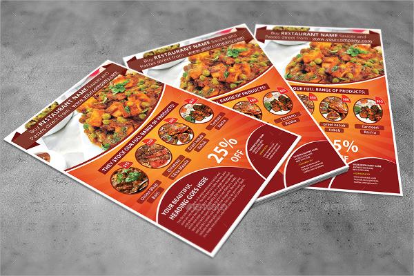 psd file restaurant flyer