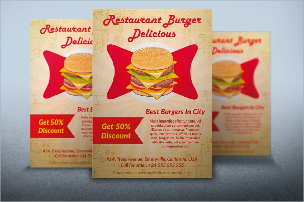 fully layered restaurant flyer