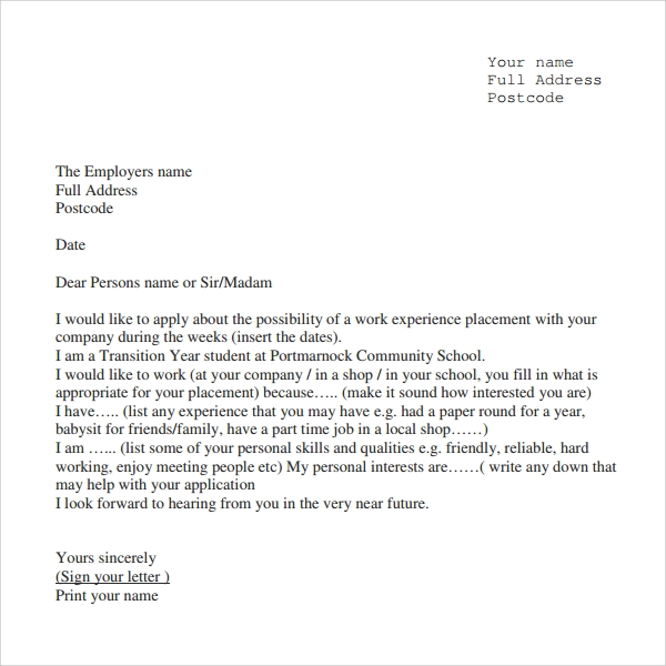 Sample experience letter 9 documents in pdf word work experience certificate yadclub Gallery