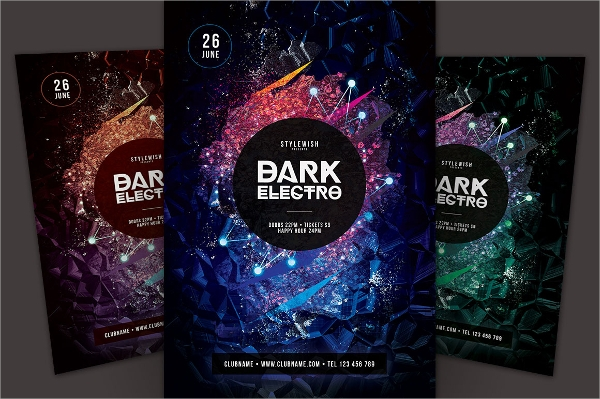 Electro Flyer Template  Download In Vector Eps Psd