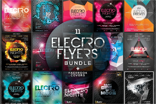 psd format electro flyer