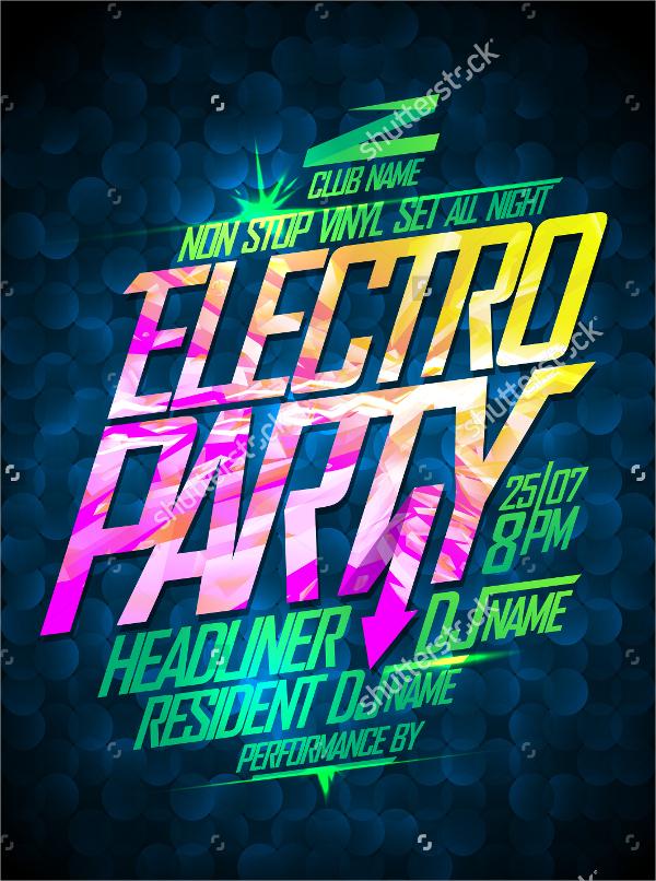 electro flyer design