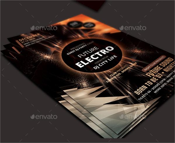 printable electro flyer