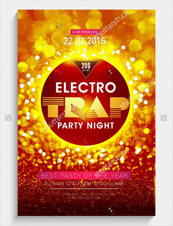 creative electro flyer