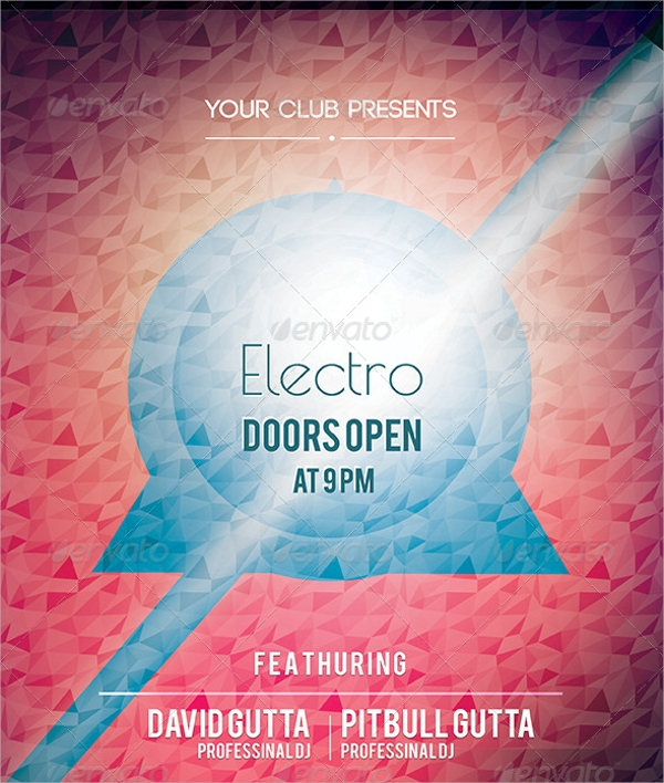 sample electro flyer