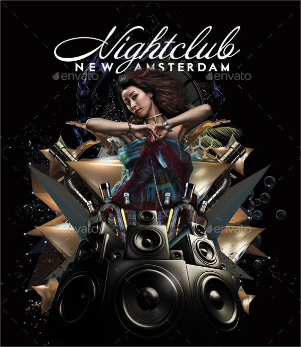 Psd Club Flyer Template Electro Night Premium Club Flyer Psd