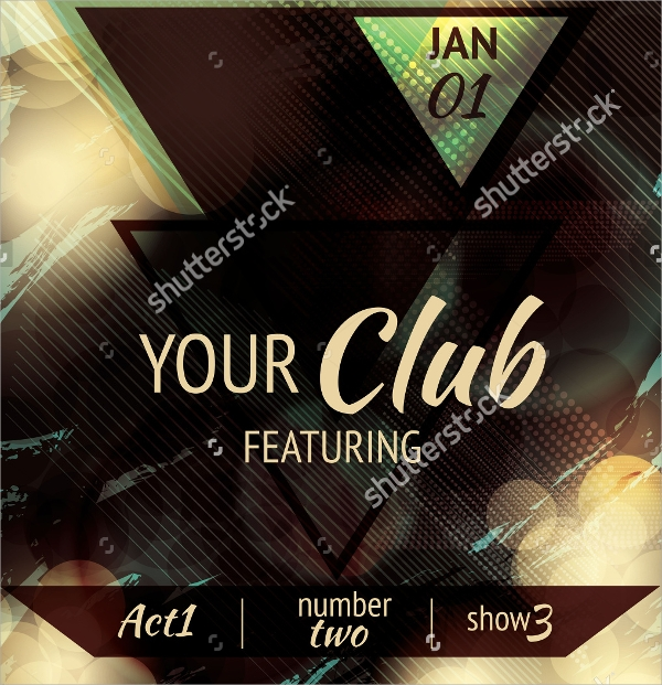 modern club flyer template