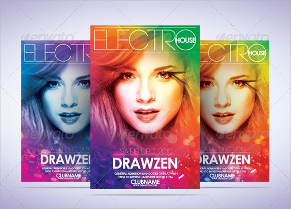 amazing club flyer template
