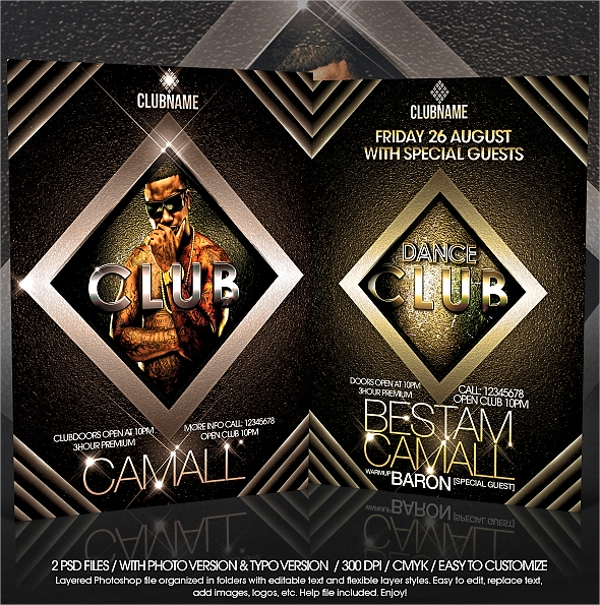 sample club flyer template