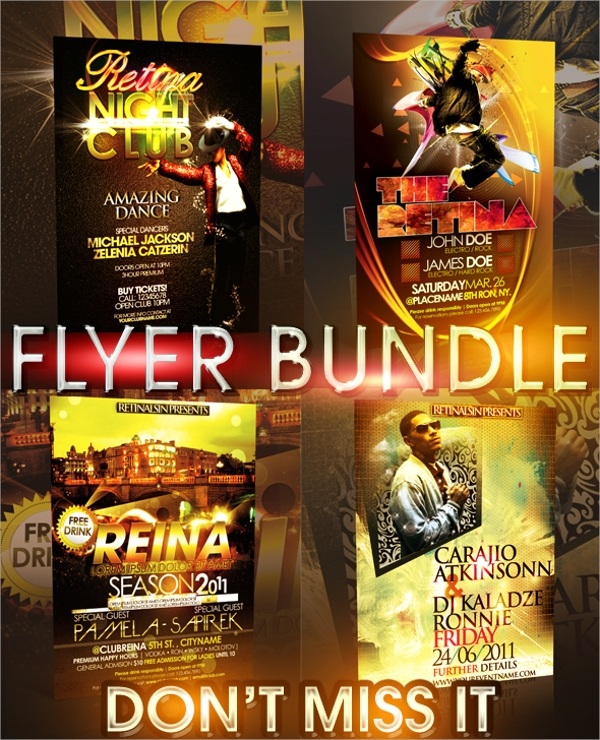 premium club flyer template