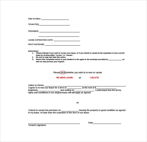sample rental renewal form 10 download free documents in pdf word