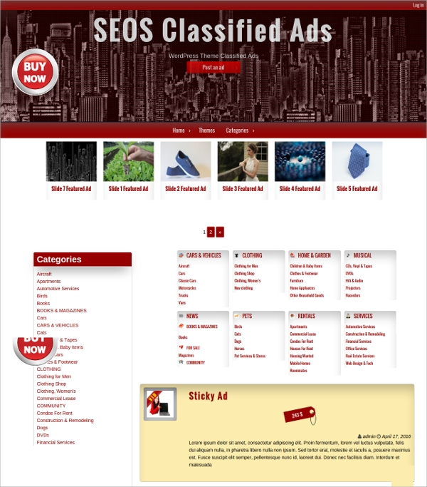 24  Classified Website Themes   Templates Sample Templates pM8KGcVy