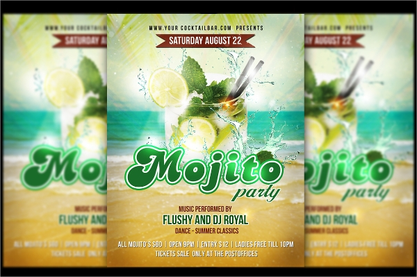 editable party flyer