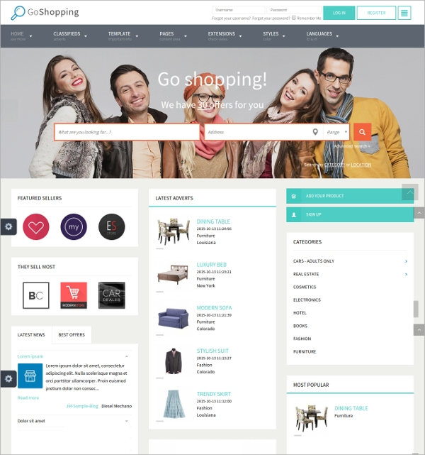 24  Classified Website Themes   Templates Sample Templates oTFmKHfX