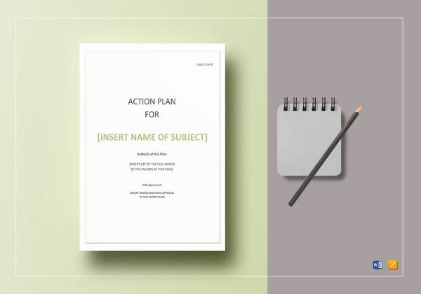 action plan template to print