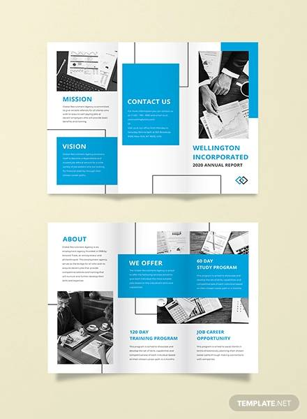 annual report tri fold brochure template