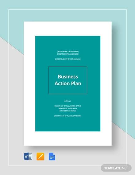 business action plan template3