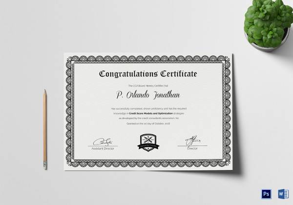 30+ Certificate Templates | Sample Templates