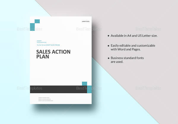 editable sales action plan template in word format