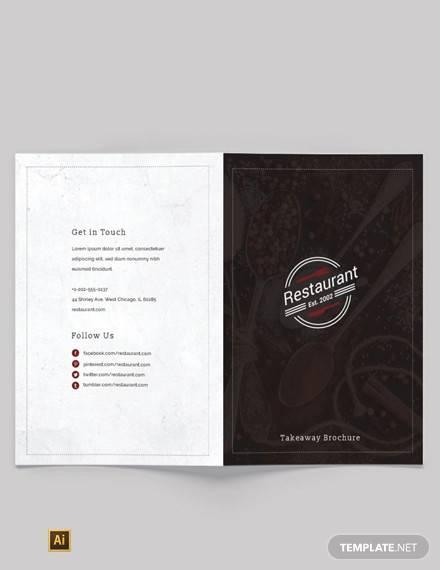 family restaurant bi fold brochure template