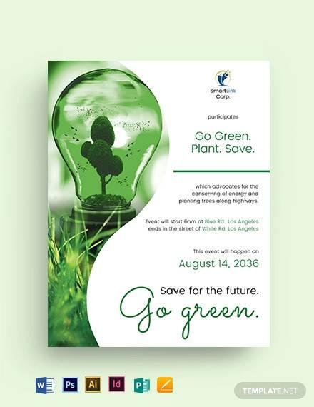 green energy flyer template1