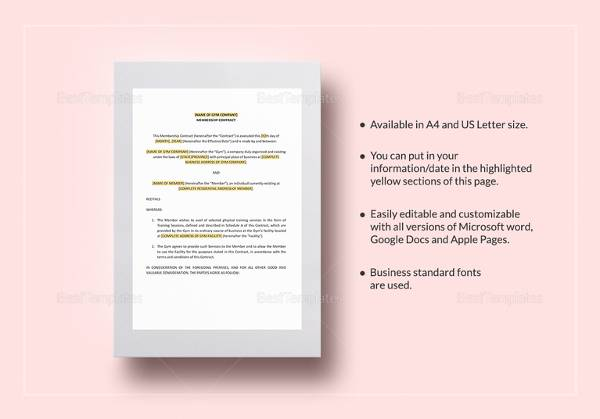 gym-contract-template