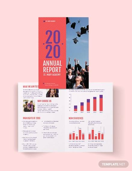 modern annual report bi fold brochure template