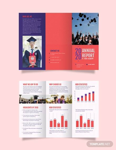 modern annual report tri fold brochure template