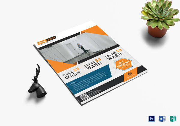 modern euro home cleaning flyer template