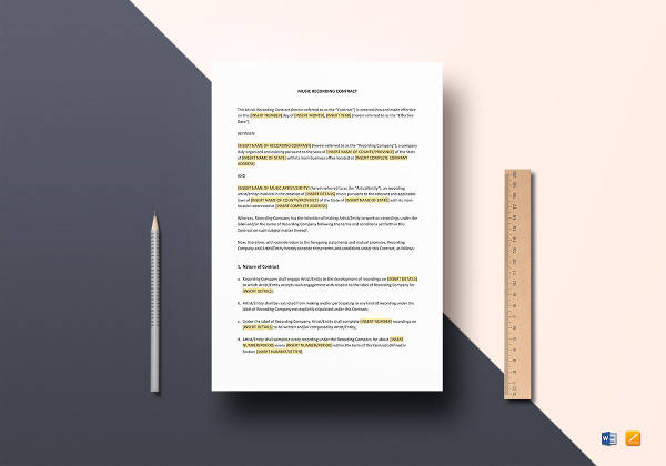 music recording contract template1