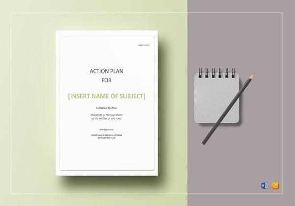 printable action plan template