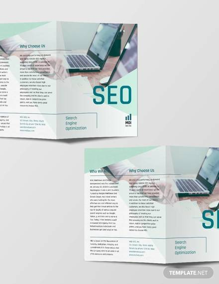 seo bi fold brochure template