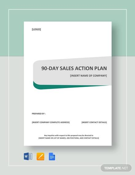 sample 90 day sales action plan template