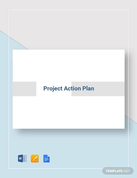 sample project action plan