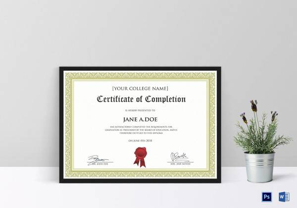 simple diploma certificate template