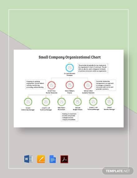 small company organizational chart template